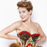Tania Llasera posando con corset y culotte para VIM Magazine