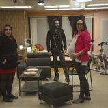 Lorena, Rafa y Ana en la casa de las bromas de 'Gran Hermano catorce'