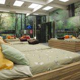 Dormitorio en tonos verdes de 'Gran Hermano catorce'