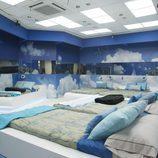 Dormitorio en tonos azules de 'Gran Hermano catorce'