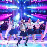 Natalia como Britney Spears en la gala final de 'Tu cara me suena'