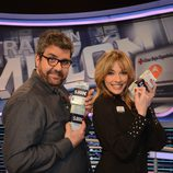 Florentino Fernández y Anna Simon en 'Atrapa un millón'