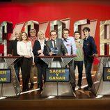 Jordi Hurtado y los concursantes magníficos de 2012 de 'Saber y ganar'