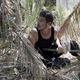Piti oculto entre palmerales en el final de 'El Barco'