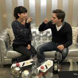 Bárbara Goenaga y Marc Clotet comiendo juntos