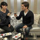Bárbara Goenaga y Marc Clotet brindan juntos