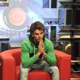 Edoardo en el confesionario en la tercera gala de 'Gran Hermano catorce'