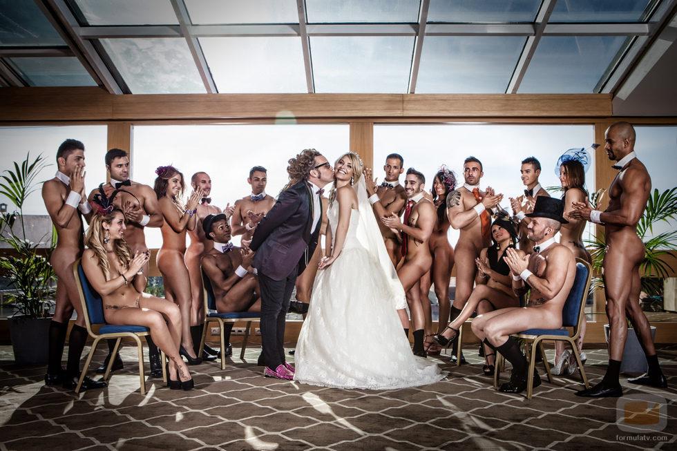 Boda nudista entre Soraya y Torito