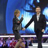 Frank Blanco y Mercedes Milá durante la gala de 'Gran Hermano: El debate'