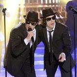 Adrián Lastra y Daniel Diges imitan a The Blue Brothers en el especial solidario de 'Tu cara me suena'