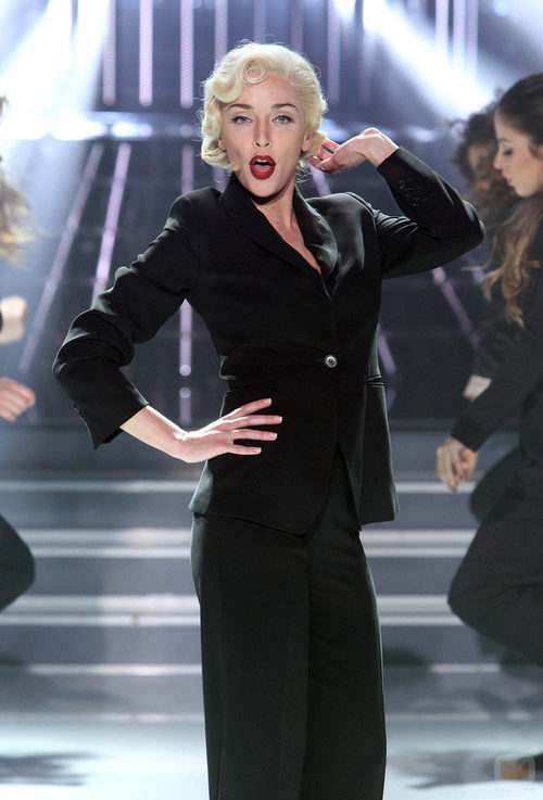 Anna Simon imita a Madonna en la gala solidaria de 'Tu cara me suena'