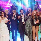 Todos los participantes de la gala solidaria de 'Tu cara me suena' cantando juntos