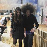 Sonia y Kristian en la granja durante la cuarta gala de 'Gran Hermano catorce'
