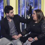 Igor consolando a Lorena tras su expulsión