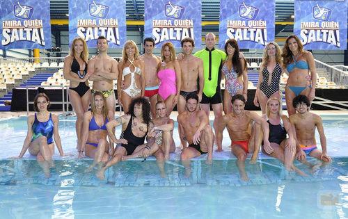Los concursantes de '¡Mira quién salta!' lucen cuerpos en la piscina