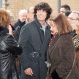 Alejandro Sancho en el funeral de su padre