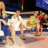 Daniela Blume, Gervasio Deferr, Elisabeth Reyes y Juan José Ballesta en 'Splash! Famosos al agua'