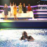 Falete en el agua tras saltar del trampolín de 'Splash! Famosos al agua'