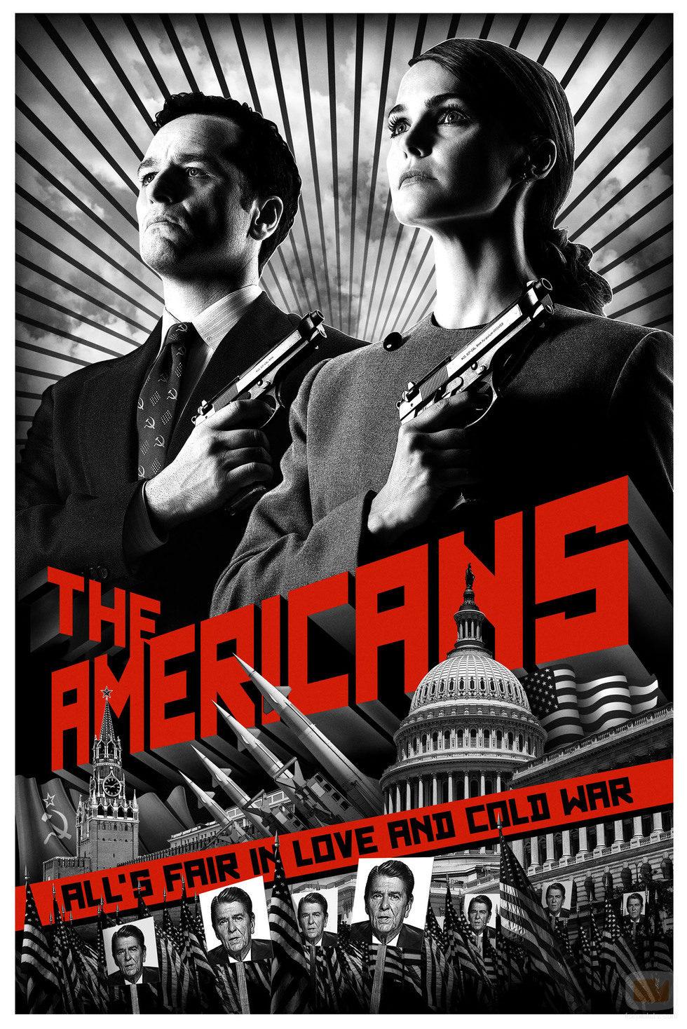 Cartel promocional de 'The Americans'