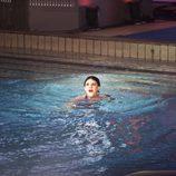 Angy Fernández en el agua tras saltar en 'Splash! Famosos al agua'