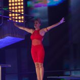 Miriam Díaz Aroca se prepara para saltar en 'Splash! Famosos al agua'