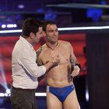Darío Barrio y Arturo Valls esperan la valoración del jurado de 'Splash! Famosos al agua'