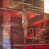 Carla Hidalgo se prepara para saltar en 'Splash! Famosos al agua'