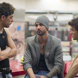 Iván, Danny y Edoardo durante la sexta gala de 'Gran Hermano catorce'
