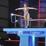 Beatriz Trapote preparándose para saltar desde el trampolín de '¡Mira quién salta!'