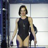 Natalia Millán desfilando en la primera gala de '¡Mira quién salta!'
