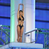 Sonia Ferrer en el trampolín de '¡Mira quién salta!'