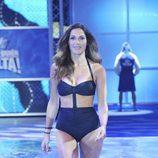 Verónica Hidalgo desfilando en la primera gala de '¡Mira quién salta!'
