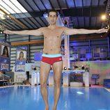 Víctor Janeiro en el trampolín de '¡Mira quién salta!'