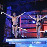 Álvaro Muñoz Escassi y Sonia Ferrer saltando juntos en '¡Mira quién salta!'