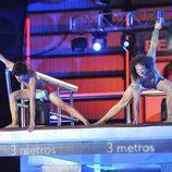 Daniel Santos y Fortu saltando juntos en '¡Mira quién salta!'