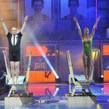 Nacho Montes y Mónica Pont saltando juntos en '¡Mira quién salta!'