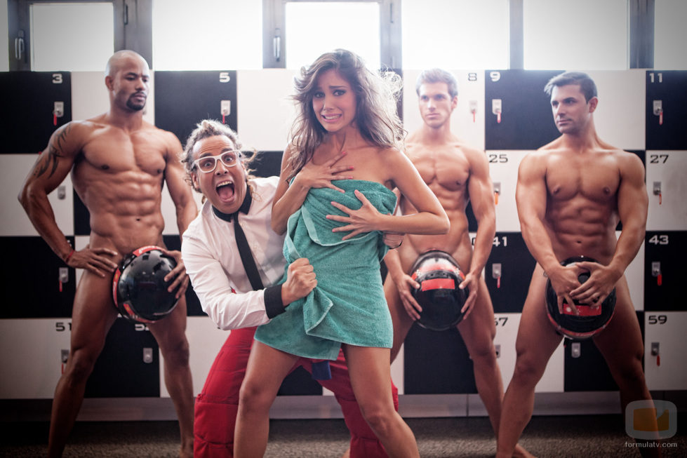 Marta Márquez, en el vestuario de chicos desnudos
