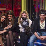 Argi, Susana, Miriam e Iván en la sala de expulsión