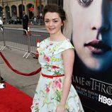 Maisie Williams en el preestreno de la tercera temporada de 'Juego de tronos'