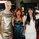 Gwendoline Christie, Natalia Tena y Oona Chaplin en la premiere de la tercera temporada de 'Juego de tronos'