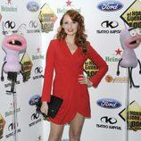 Cristina Castaño posando en el photocall de la fiesta de los mil programas de 'El Hormiguero'