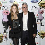 Sandra Ibarra y Juan Ramón Lucas en la fiesta de los mil programas de 'El Hormiguero'