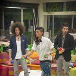Kristian, Raky e Igor en la octava gala de 'Gran Hermano catorce'