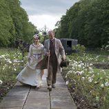 Katherine Glendenning con su padre Lord Glendenning
