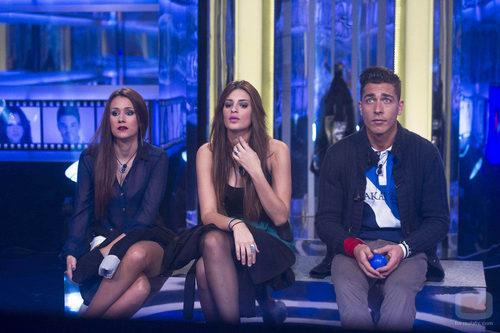 Argi, Susana y Juan Carlos en sala de expulsiones
