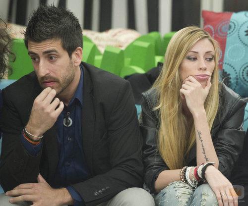 Igor y Miriam juntos durante la novena gala de 'Gran Hermano catorce'