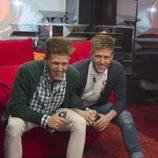 Carlos y Gonzalo hablan con su hermano Fernando durante la novena gala de 'Gran Hermano catorce'
