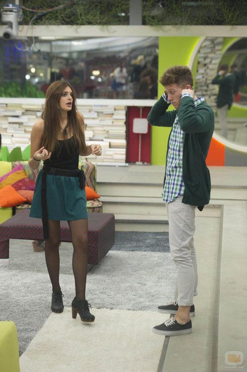 Susana y Gonzalo hablando tras la novena gala de 'Gran Hermano catorce'