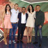 Los presentadores, Jorge Javier Vázquez y los primeros contrayentes de 'Las bodas de Sálvame'