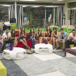 Los concursantes de 'Gran Hermano catorce' aplaudiendo a Anabel en su despedida